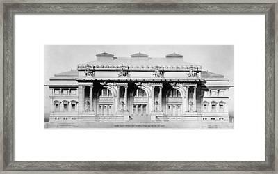 Metropolitan Museum, 1893 Framed Print