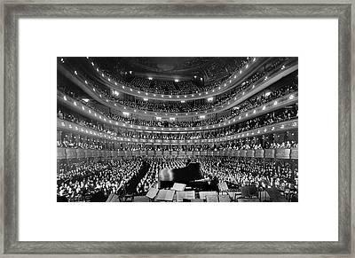 Metropolitan Opera House 1937 Framed Print by Mountain Dreams