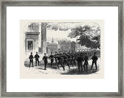 Metropolitan Police Learning The Cutlass Exercise Framed Print by English School