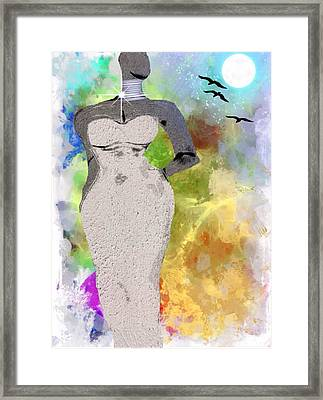 Metropolitan Framed Print by Romaine Head