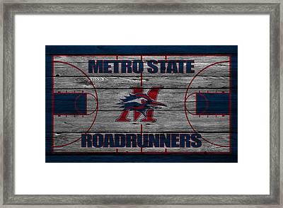 Metropolitan State Roadrunners Framed Print by Joe Hamilton