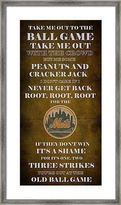 Mets Peanuts And Cracker Jack  Framed Print