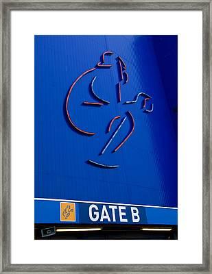 Mets Shea Stadium Gate B Framed Print by Alida Thorpe