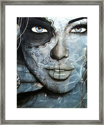 Metallic Messiah Framed Print