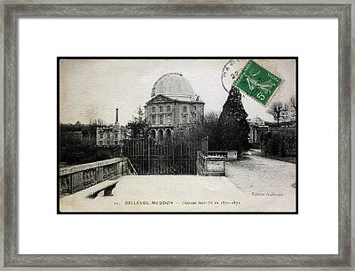 Meudon Grand Lunette Observatory Framed Print by Detlev Van Ravenswaay