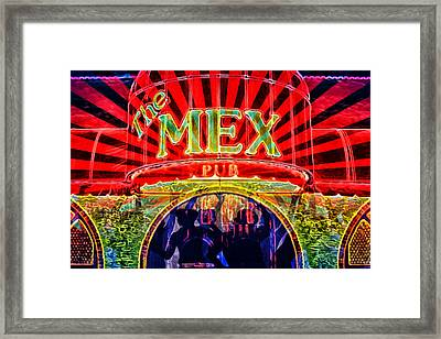 Framed Print featuring the digital art Mex Party by Richard Farrington