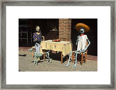 Mexican Antique Family Framed Print by Roderick Bley