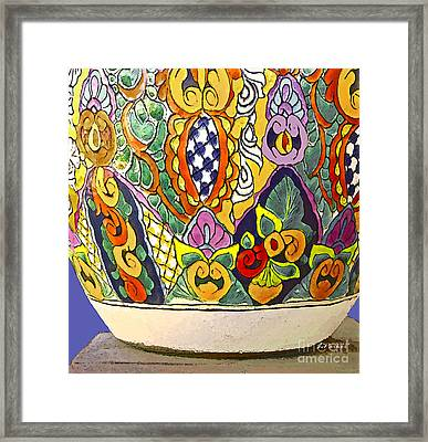Mexican Ceramic Pottery Framed Print by Linda  Parker