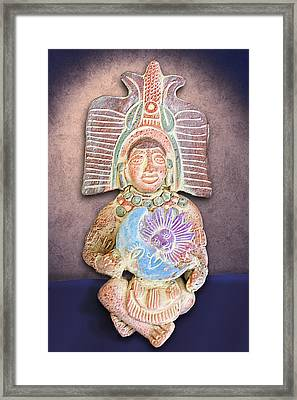 Mexican Clay Artwork Framed Print by Linda Phelps