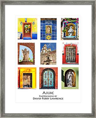 Colorful Mexican Doors, Ajijic Mexico - Travel Photography By David Perry Lawrence Framed Print by David Perry Lawrence