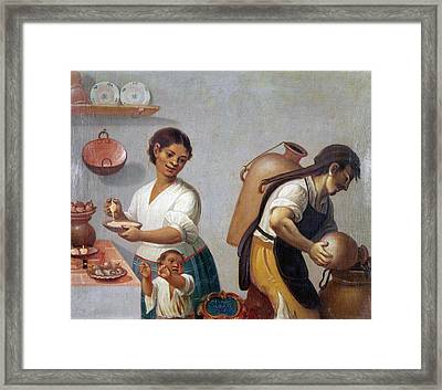 Mexican Family, 1775 Framed Print by Granger