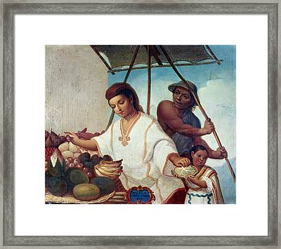 Mexican Family, C1775 Framed Print by Granger