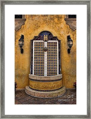 Mexican Hacienda Fountain II Framed Print