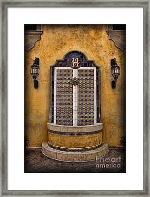 Mexican Hacienda Fountain Framed Print