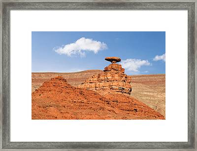 Mexican Hat Rock Framed Print by Christine Till