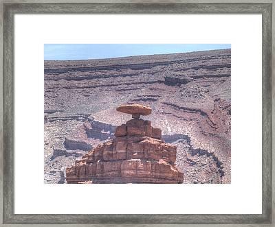 Mexican Hat Rock Framed Print by Sanda Kateley