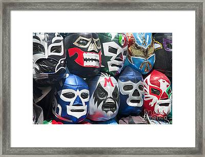 Mexican Head Masks Framed Print