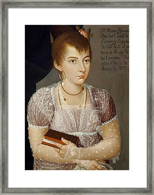 Mexican Lady, 1819 Framed Print
