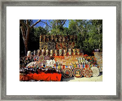Mexican Market  Framed Print by Sarah Mullin