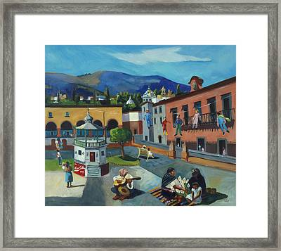 Framed Print featuring the painting Mexican Memories Of San Miguel by Linda Novick