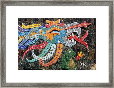 Mexican Mosaic Art Framed Print by Linda Phelps