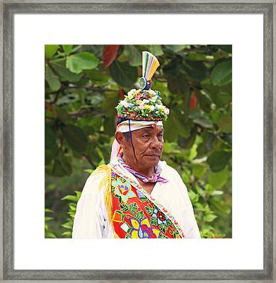 Mexican Performer Framed Print by Dave Dos Santos