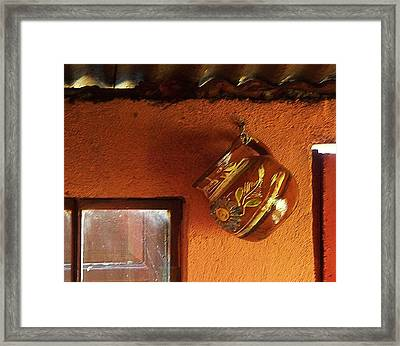 Mexican Pottery Framed Print by Joy Nichols