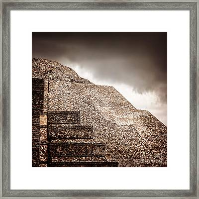 Mexican Pyramid Framed Print