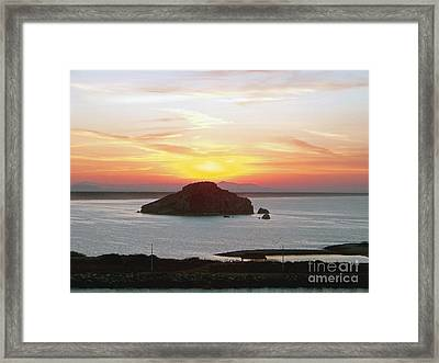 Framed Print featuring the photograph Mexican Riviera Sunset by Gena Weiser