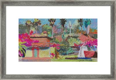 Framed Print featuring the painting Mexican Spa by Linda Novick