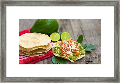 Mexican Tostadas Framed Print by Aged Pixel