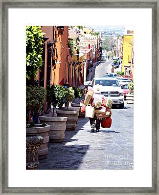 On The Way To The Market  Framed Print by Cristiana Marinescu