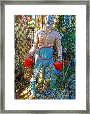Mexican Wrestler Framed Print by Gregory Dyer