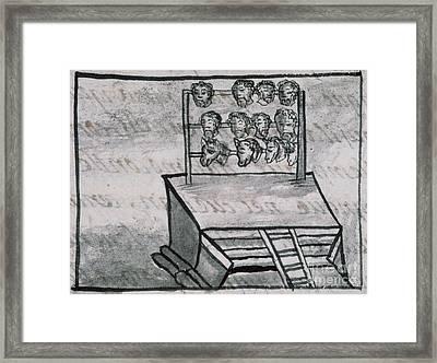 Mexico - Skull Rack Framed Print by Granger