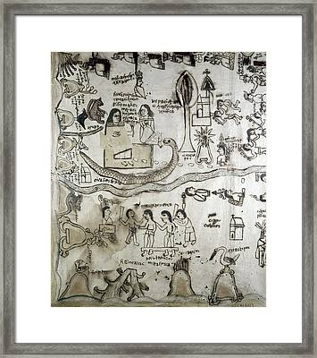 Mexico Aztec Drawing Framed Print