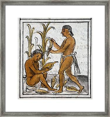 Mexico Aztec Farmers Framed Print by Granger