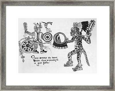 Mexico Aztec Ritual Framed Print