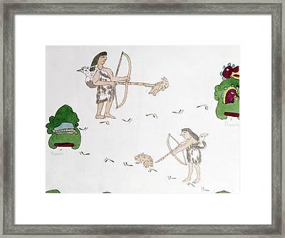 Mexico Aztecs Hunting Framed Print by Granger