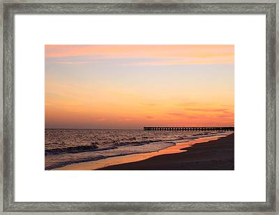Mexico Beach Pier Framed Print by Saya Studios