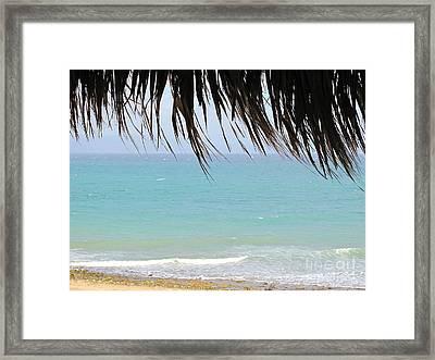 Mexico Beach Framed Print by Virginia Ann Hemingson