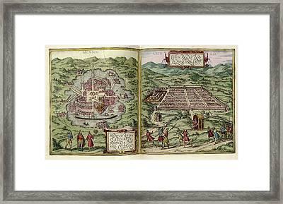 Mexico City And Cusco Framed Print