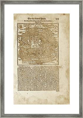 Mexico City Framed Print by Library Of Congress, Geography And Map Division
