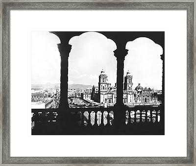 Mexico City Plaza Framed Print