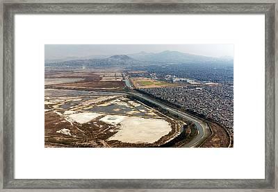 Mexico City Salt Marsh Framed Print