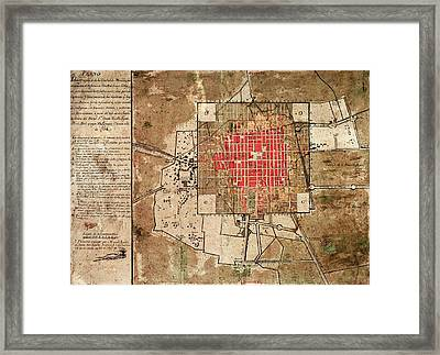 Mexico City Urban Development Framed Print by Library Of Congress
