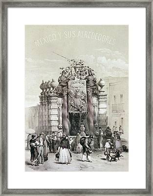 Mexico Fountain Framed Print