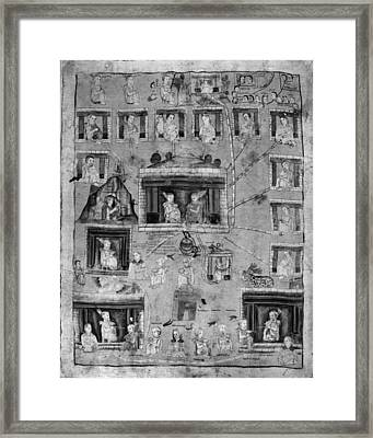 Mexico Genealogy Framed Print by Granger