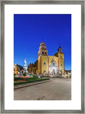 Mexico, Guanajuato, Plaza De La Paz Framed Print