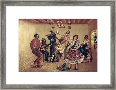 Mexico: Hat Dance Framed Print by Granger