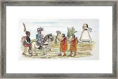 Mexico Hernando Cortes Welcomed Framed Print